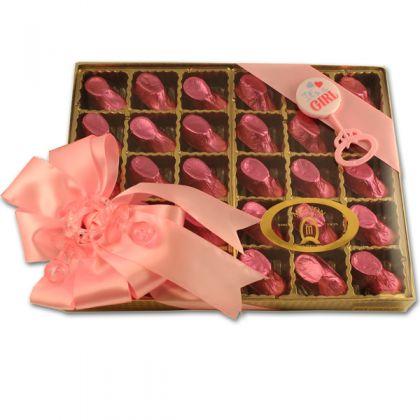 Baby Girl Booties Gift Box