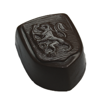 Dark Chocolate Shell filled with Aromatic Cappuccino White Chocolate Ganache a touch of Cappuccino Swirl.