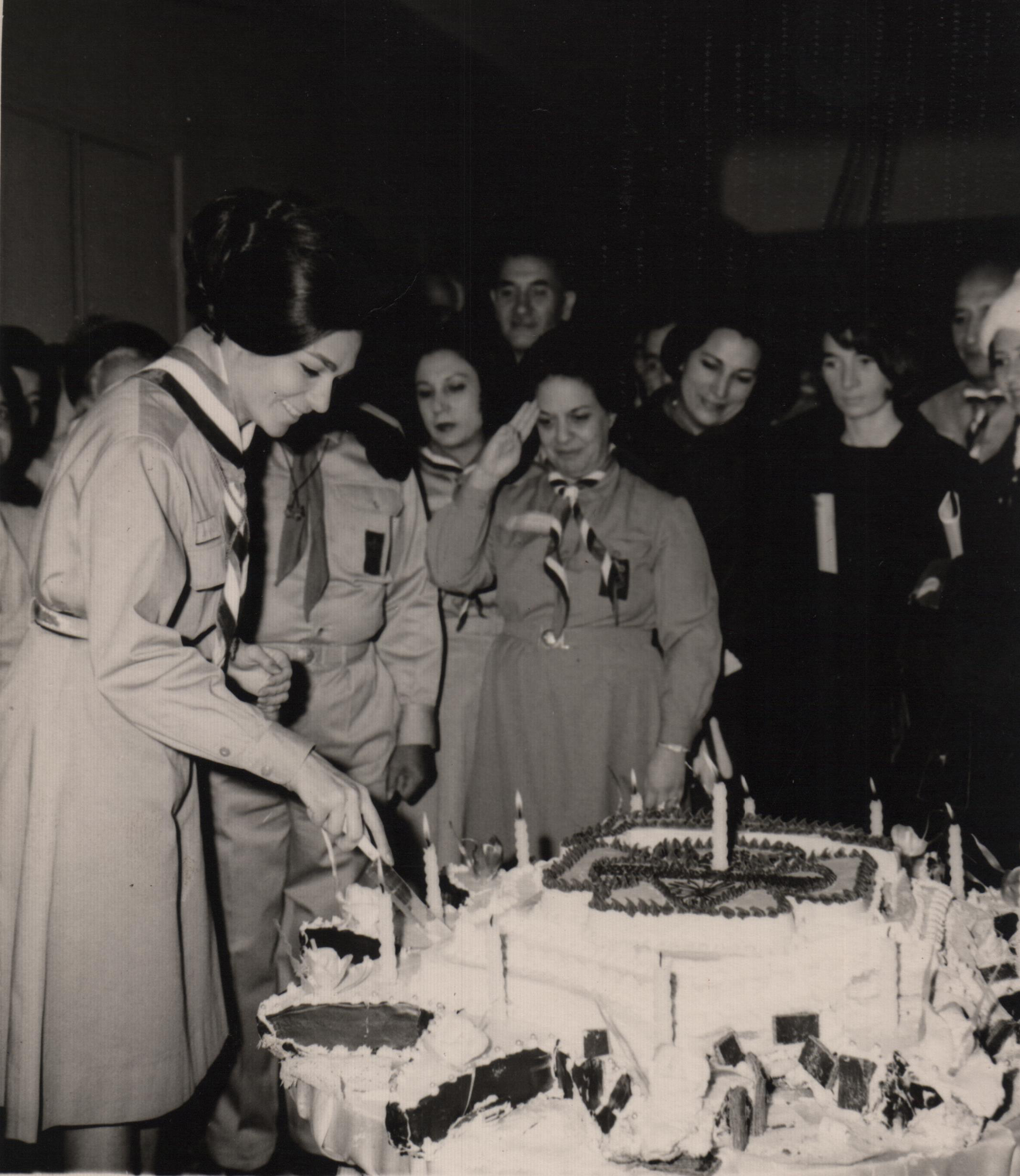 Queen of Iran Cutting a Mignon Cake in the Palace (1969)