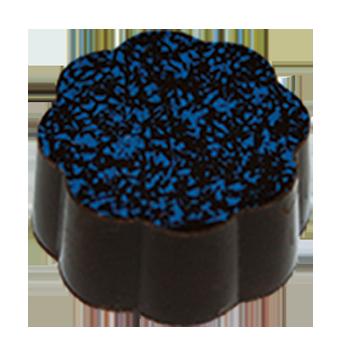 Dark Chocolate Shell filled with Blueberry Dark Chocolate Ganache.
