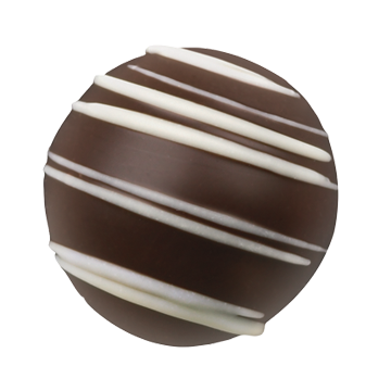 Dark Chocolate Truffle Shell Filled with Smooth and Creamy Cappuccino Ganache