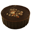 Dark Chocolate shell filled with Liquid Caramel and topped with Seasalt Crystals.