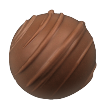 Milk Chocolate Truffle Shell Filled with Creamy and Smooth Milk Chocolate Champagne Ganache.