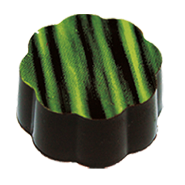 58% Dark Chocolate Shell filled with refreshing Cuban Mojito Dark Chocolate Ganache.