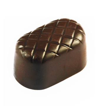Dark Chocolate Shell filled with Cinnamon Spice Dark Chocolate Ganache