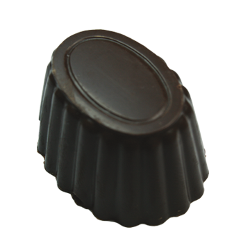 Dark Chocolate Shell filled with In-House Prepared Liquid European Style Caramel.
