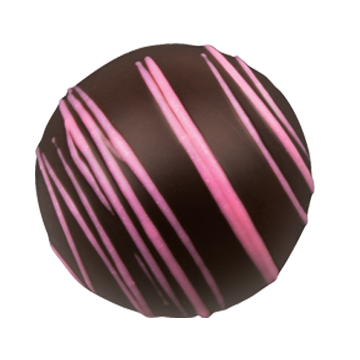 Dark Chocolate Truffle Shell is Carefully Filled with Smooth Dark Chocolate Raspberry Ganache.