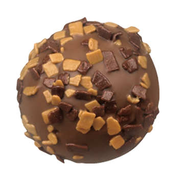 Milk Chocolate Truffle Shell Filled with Smooth Milk Chocolate Tiramisu Ganache.